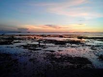 Coucher du soleil de Bantayan Photos libres de droits