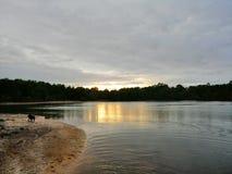 Coucher du soleil de Bawsey photo libre de droits