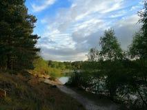 Coucher du soleil de Bawsey photographie stock libre de droits