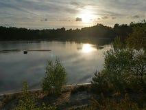 Coucher du soleil de Bawsey photos libres de droits