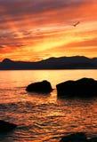 coucher du soleil de beatifull Images libres de droits
