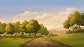 Coucher du soleil de belle vue Image libre de droits