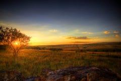 Coucher du soleil de berceau Image stock