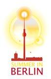 Coucher du soleil de Berlin Photos libres de droits