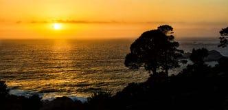 Coucher du soleil de Big Sur Photo stock