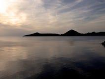 Coucher du soleil de Bodrum Image stock