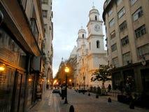 Coucher du soleil de Bolivar et d'Alsina photo libre de droits