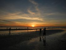 Coucher du soleil de Boracay Photographie stock