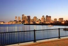 coucher du soleil de Boston Photos libres de droits