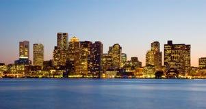 coucher du soleil de Boston Photos stock