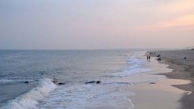 Coucher du soleil de Brighton Beach photographie stock