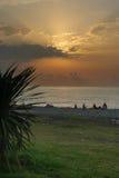 Coucher du soleil de Butumi Photo libre de droits