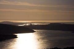 coucher du soleil de côte Photo stock