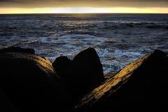 Coucher du soleil de Côte Pacifique Photos libres de droits