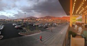 Coucher du soleil de côté Ouest photographie stock libre de droits