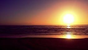 Coucher du soleil de côte de l'Orégon Photos libres de droits