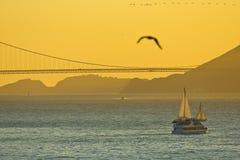 coucher du soleil de Ca Francisco san Image libre de droits