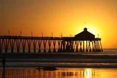 Coucher du soleil de Californai Images libres de droits