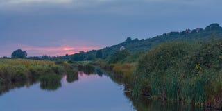 Coucher du soleil de campagne d'Essex Image libre de droits
