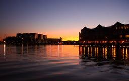 coucher du soleil de canton Photo libre de droits