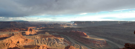 Coucher du soleil de Canyonlands Photos stock