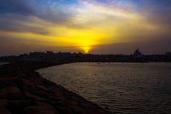 Coucher du soleil de cap Photo libre de droits
