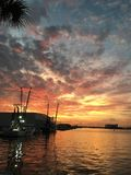 Coucher du soleil de Cap Canaveral images libres de droits