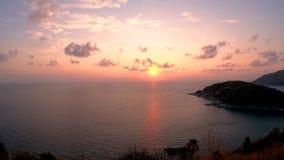 Coucher du soleil de cap de Phrom Thep, Phuket clips vidéos
