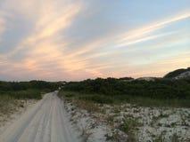 Coucher du soleil de Cape Cod Photographie stock