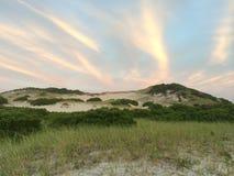 Coucher du soleil de Cape Cod Image libre de droits