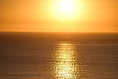 Coucher du soleil de Cape Town Images stock