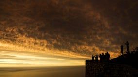 Coucher du soleil de Capetown photos libres de droits