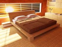 Coucher du soleil de chambre à coucher Images libres de droits