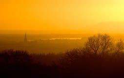 Coucher du soleil de Chichester Photographie stock libre de droits