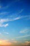 coucher du soleil de ciel Image stock