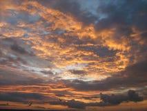 Coucher du soleil de ciel Photo stock