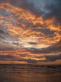 Coucher du soleil de ciel Photographie stock