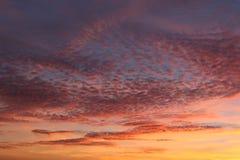 coucher du soleil de ciel Photographie stock libre de droits