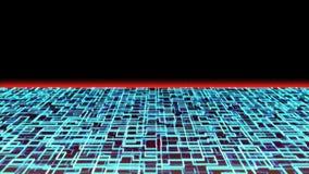 Coucher du soleil de circuit de Cyber banque de vidéos