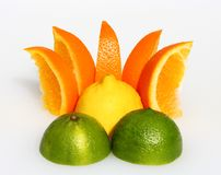 Coucher du soleil de citron Photographie stock libre de droits