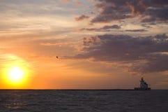 coucher du soleil de Cleveland Photos libres de droits