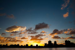 coucher du soleil de cloudscape photo stock