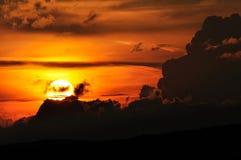 Coucher du soleil de Cluj-Napoca Photographie stock libre de droits