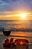 coucher du soleil de cocktail Images stock