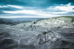Coucher du soleil de colline de Cleeve Photo libre de droits