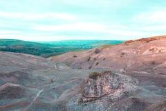 Coucher du soleil de colline de Cleeve Photographie stock libre de droits