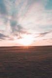Coucher du soleil de colline de Cleeve Photographie stock