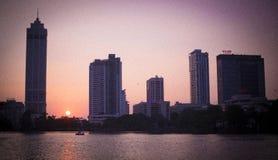 Coucher du soleil de Colombo Photographie stock libre de droits