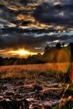Coucher du soleil de contre-jour photographie stock libre de droits
