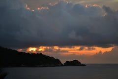 Coucher du soleil de Corrales Images stock